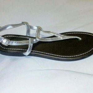 Silver strapped sandal by Montego Bay Size 11